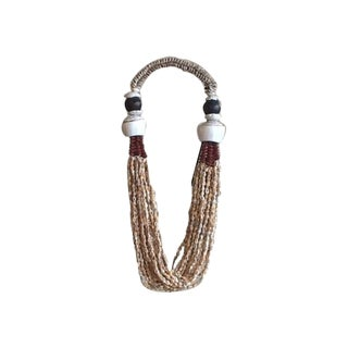 African Beaded Necklace & Stand