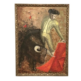 Mid-Century 'El Toro' Painting