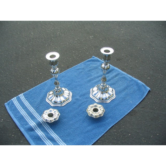 C.G.Hallbergs Silver Plate Candlesticks - A Pair - Image 3 of 4