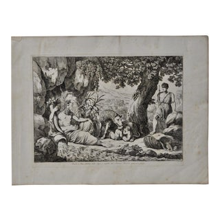 "Bartolomeo Pinelli Engraving ""Romulus and Remus Suckling Lupa"" c.1816"