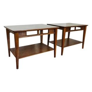 Lane Mid-Century Modern Danish Walnut End Tables