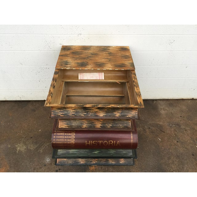 Italian Metal Tole Painted Book Stack Table - Image 8 of 9