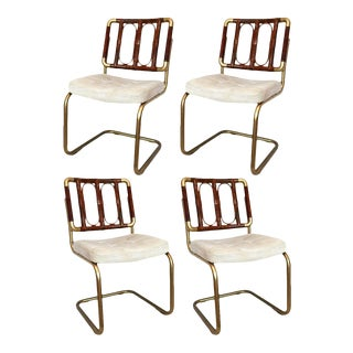 Chromcraft Cantilever Dining Chairs - Set of 4