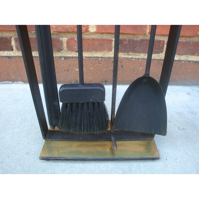 Modernist Fireplace Tool Set & Stand - Set of 5 - Image 5 of 7