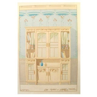 Vintage French Decorator Sheet Interior/Cabinet
