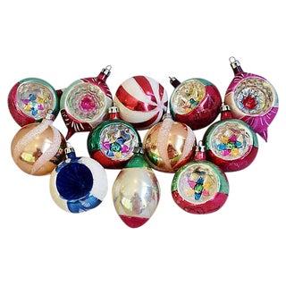 1950s European Christmas Tree Ornaments w/Box - Set of 12