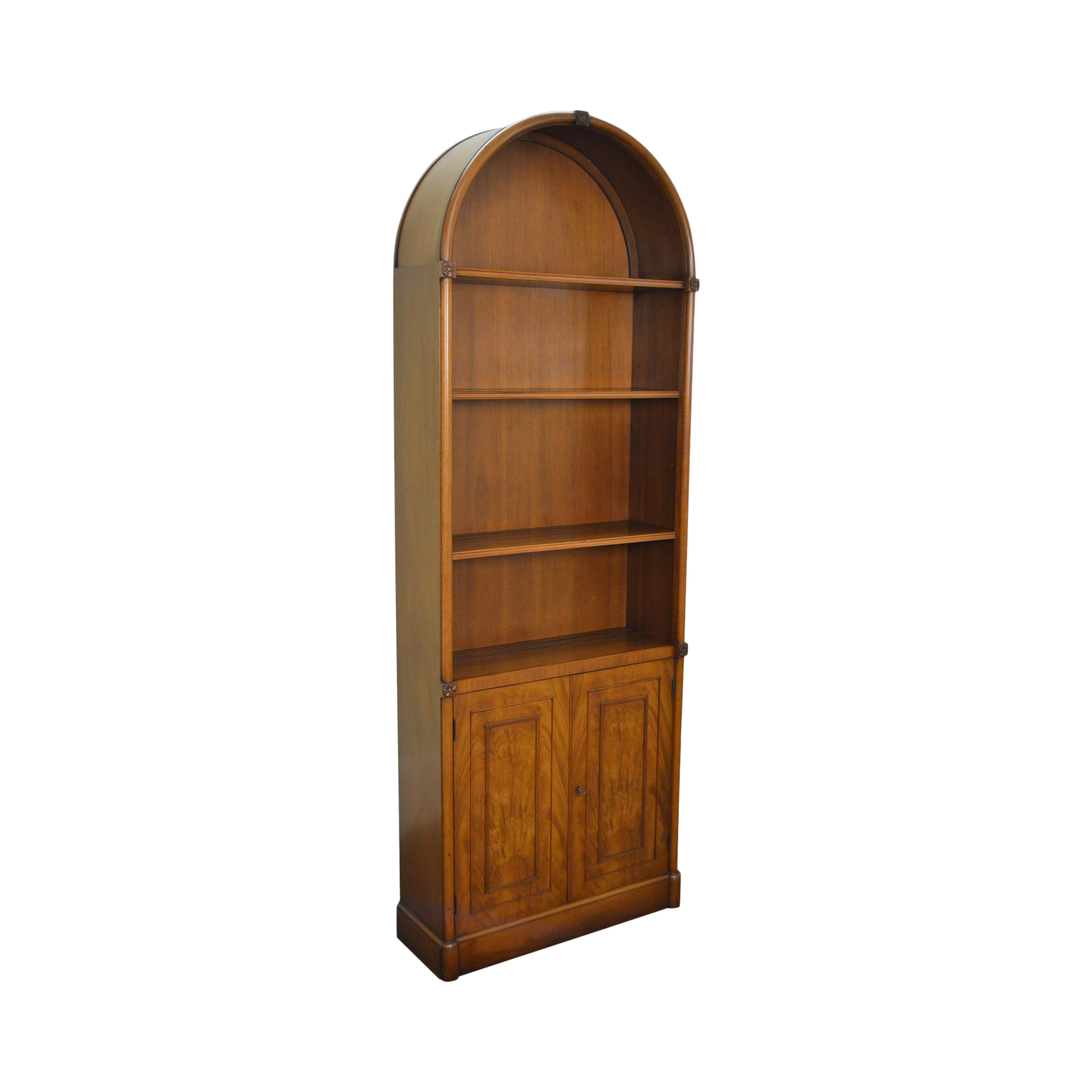 Beacon Hill Collection Arched Mahogany Regency Style Bookcase