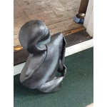 Image of Vintage 1980s Modern Gray Lady Statue