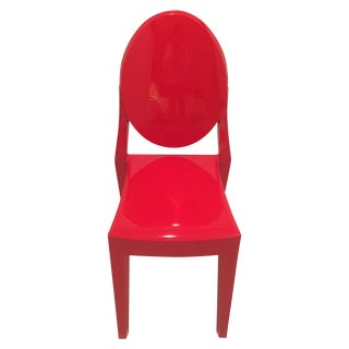 Philippe Starck Red Ghost Chairs - Set of 4