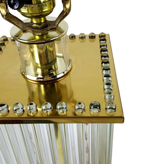 Sciolari-Style Glass Rod Table Lamps - A Pair - Image 5 of 10