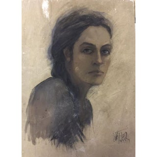 French Portrait of Woman Pastel Drawing #3