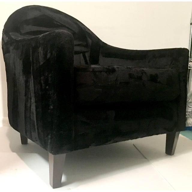 Art Deco Style Faux Mink Fur Club Chair - Image 4 of 6