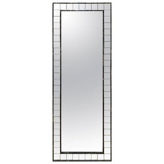 Modern Full Length Acid Washed Wood Frame Bronze Toned Mirror