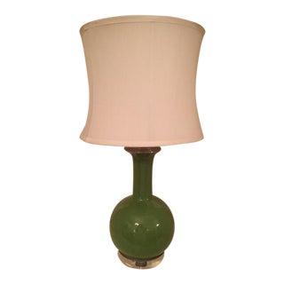 Vintage Celadon Ceramic & Lucite Table Lamp, 1970s