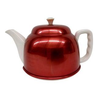 Vintage Red Tea Pot Warming Set