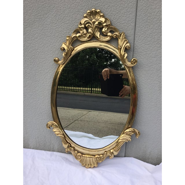 1970's French Style Brass Mirror - Image 2 of 9