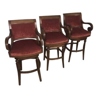 Low Back Bar Stools - Set of 3