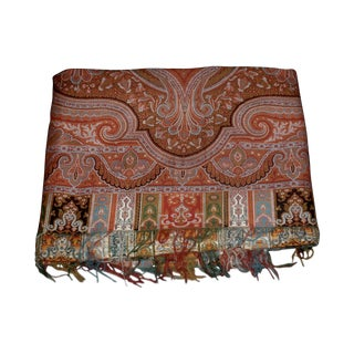 Large Antique Kashmir Paisley Throw