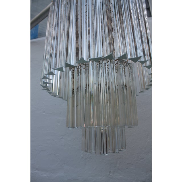 Venini Three-Tiered Glass Prism Chandelier. - Image 3 of 11