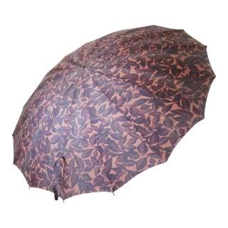 1950s Vintage Autumn Leaves Umbrella