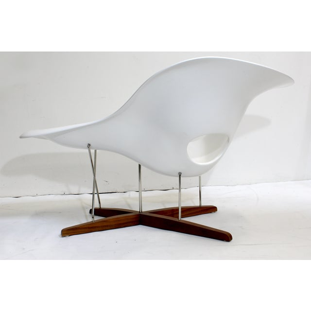 Eames vitra white la chaise chair chairish for Chaise eames vitra