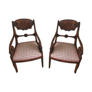 19th Century Russian Armchairs - A Pair