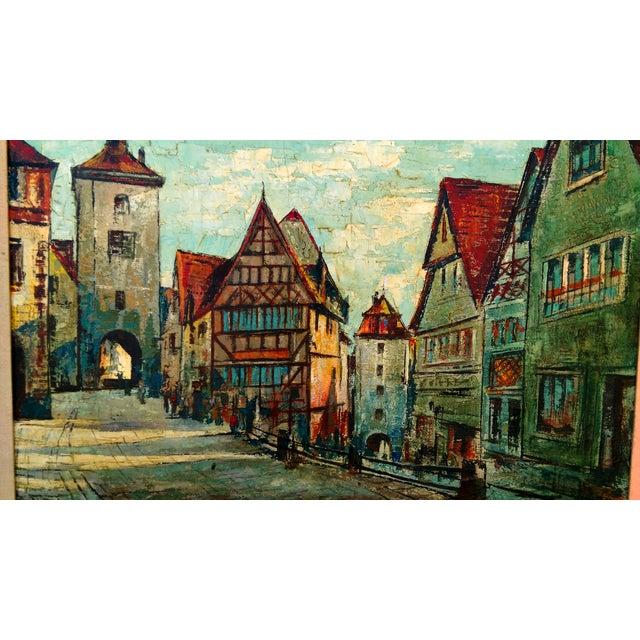 Rustic Street Scene Painting by Geo Koppany - Image 2 of 9
