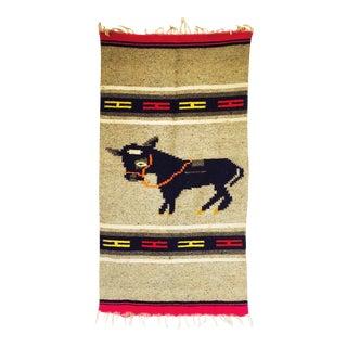 Vintage Southwestern Wool Rug - 1′9″ × 3′4″
