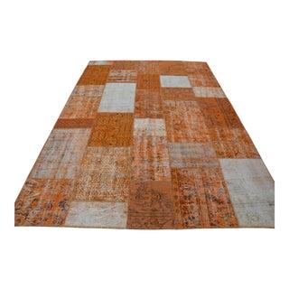 Orange Overdyed Patchwork Rug - 7′1″ × 10′