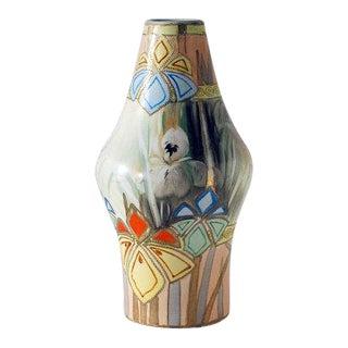 Antique Nippon Art Deco Vase, Royal Nishiki Pottery