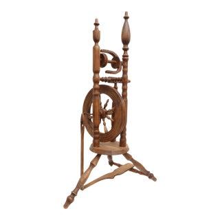 Antique Primitive Wood Spinning Wheel