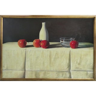 Apples Still Life Oil Painting on Canvas by G. B. Valverde