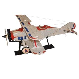 Bi-Plane Airplane Model on Stand