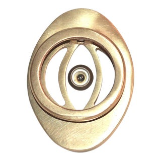 Mid-Century Peephole Door Knocker