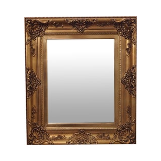 Gold Frame Victorian Style Hanging Wall Mirror