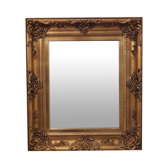 Gold frame victorian style hanging wall mirror chairish for Mirror frame styles