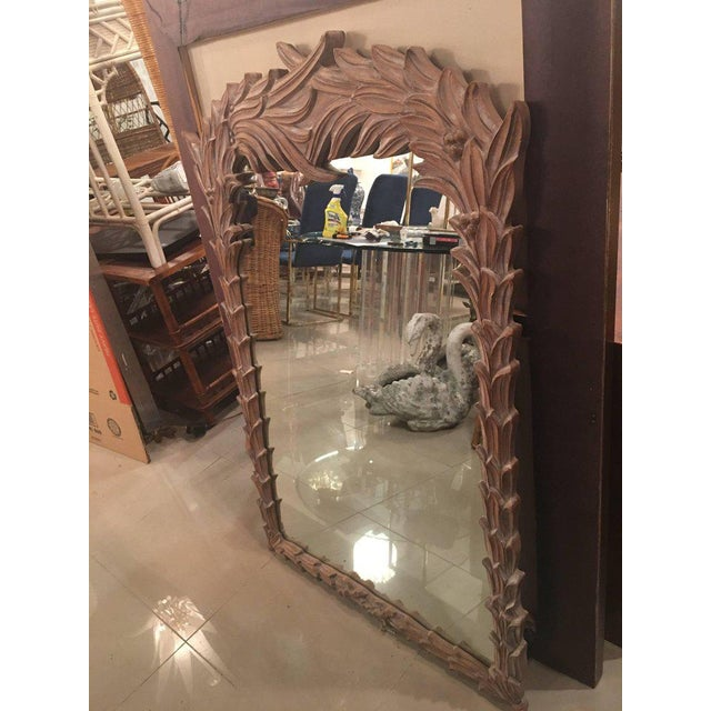 Vintage Palm Frond Wall Mirror - Image 5 of 9