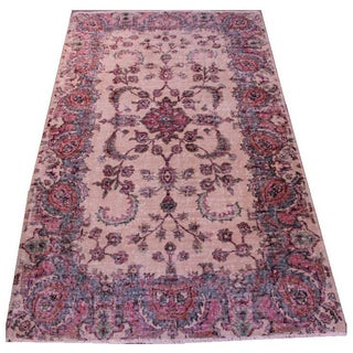 Vintage Turkish Anatolian Area Rug - 4′1″ × 7′2″