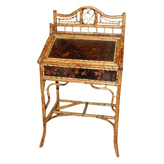 Antique Oriental Bamboo Desk