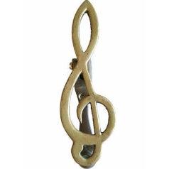 Image of 1950s Brass Treble Clef Musical Note Door Knocker