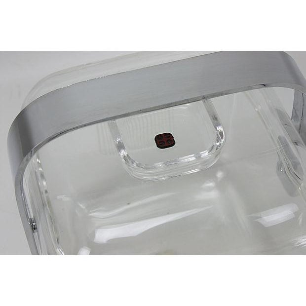 Image of Guzzini Lucite And Chrome Ice Bucket