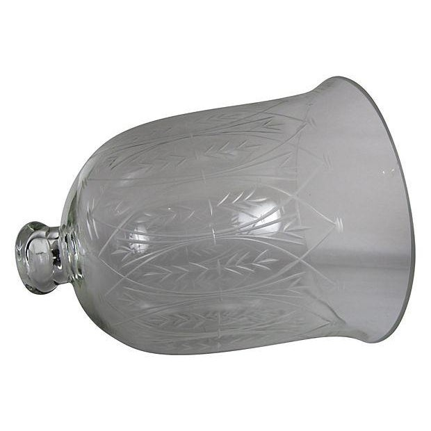 Vintage Etched Glass Nesting Domes - S/2 - Image 2 of 8