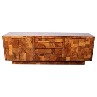 Patchwork Burl Credenza by Paul Evans