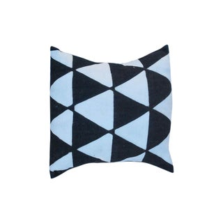 Black and White African Triangle Motif Cushion
