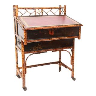 19th C. English Bamboo Desk