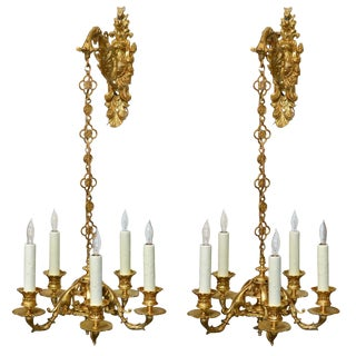 Fine Pair of French Pendant Chandeliers