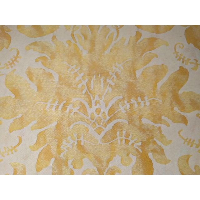 Custom Italian Gold Damask Silk Pillows - Set of 3 - Image 9 of 11