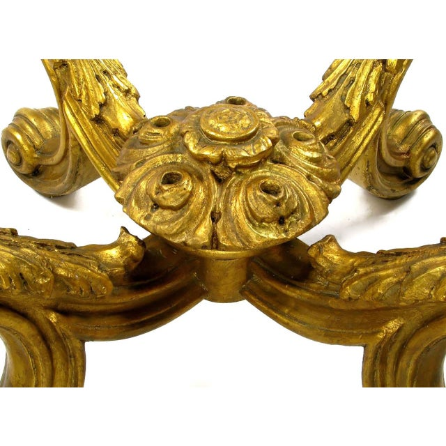Image of Hand-Carved and Gilt Spanish Rococo Coffee Table