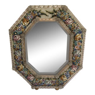 Antique Micro Mosaic Venetian Glass Mirror