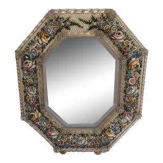 Antique Micro Mosaic Venetian Glass Mirror
